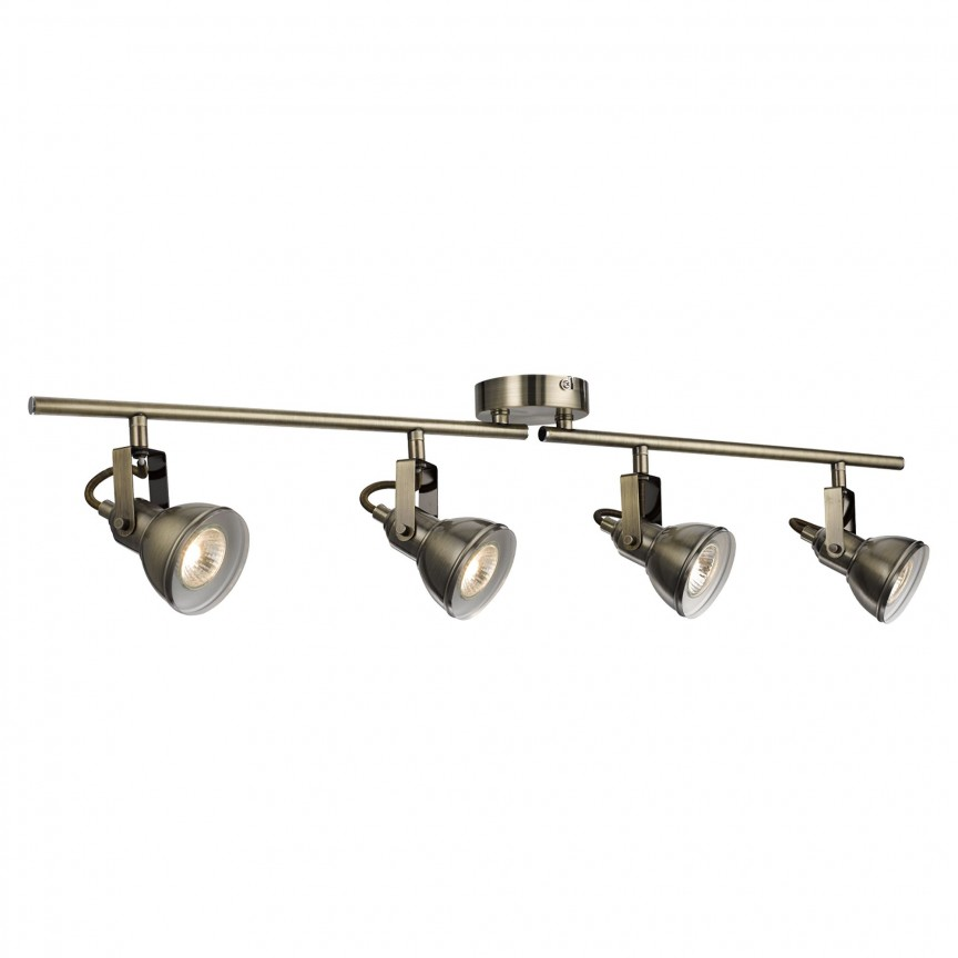 Plafoniera cu 4 spoturi directionabile Focus alama antic 1544AB SRT, Spoturi - iluminat - cu 4 spoturi, Corpuri de iluminat, lustre, aplice, veioze, lampadare, plafoniere. Mobilier si decoratiuni, oglinzi, scaune, fotolii. Oferte speciale iluminat interior si exterior. Livram in toata tara.  a