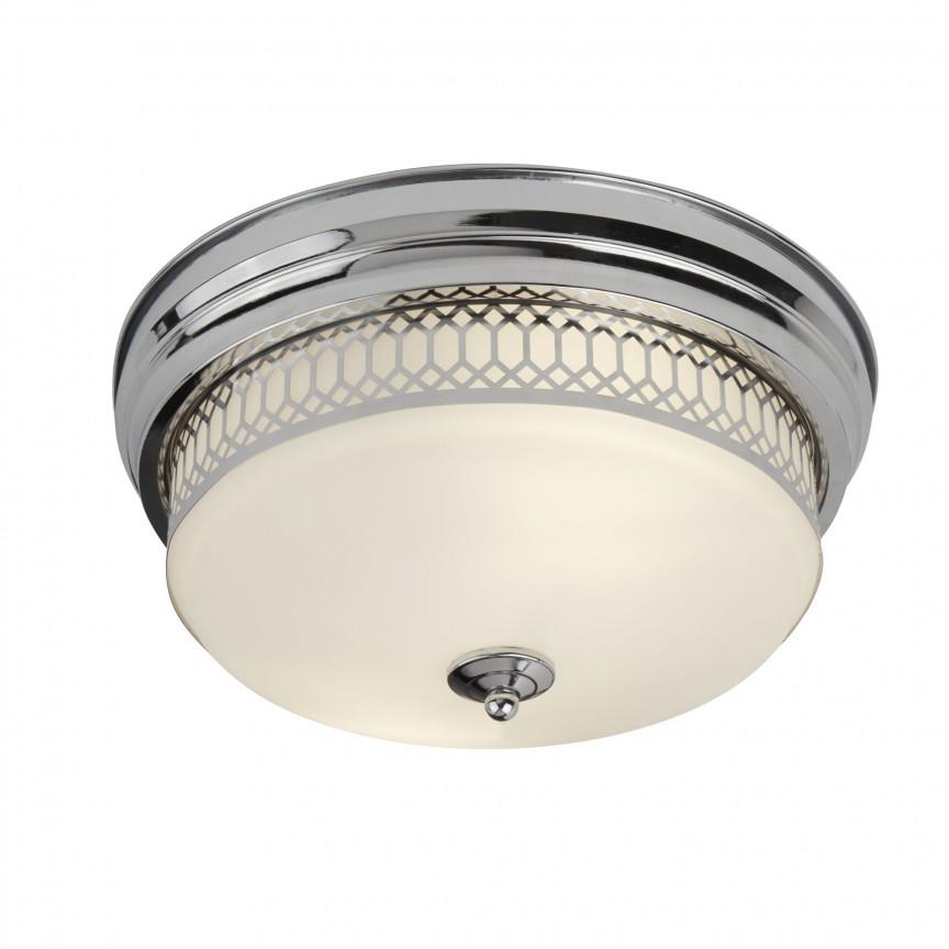 Plafoniera pentru baie IP44 Ø35cm Edinburgh crom 4132-2CC SRT, Plafoniere cu protectie pentru baie, Corpuri de iluminat, lustre, aplice, veioze, lampadare, plafoniere. Mobilier si decoratiuni, oglinzi, scaune, fotolii. Oferte speciale iluminat interior si exterior. Livram in toata tara.  a