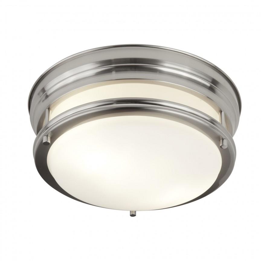 Plafoniera pentru baie IP44 Ø35cm Edinburgh argintiu satin 6142-2SS SRT, Plafoniere cu protectie pentru baie, LED⭐ modele moderne rezistente la apa potrivite în baie. ✅Design premium actual Top 2020! ❤️Promotii lampi❗ ➽ www.evalight.ro. Corpuri de iluminat pt interior de tip lustra cu montare pe tavan (plafon rigips sau perete), cu LED si protectie la umiditate, ieftine sau de lux, calitate deosebita la cel mai bun pret! a