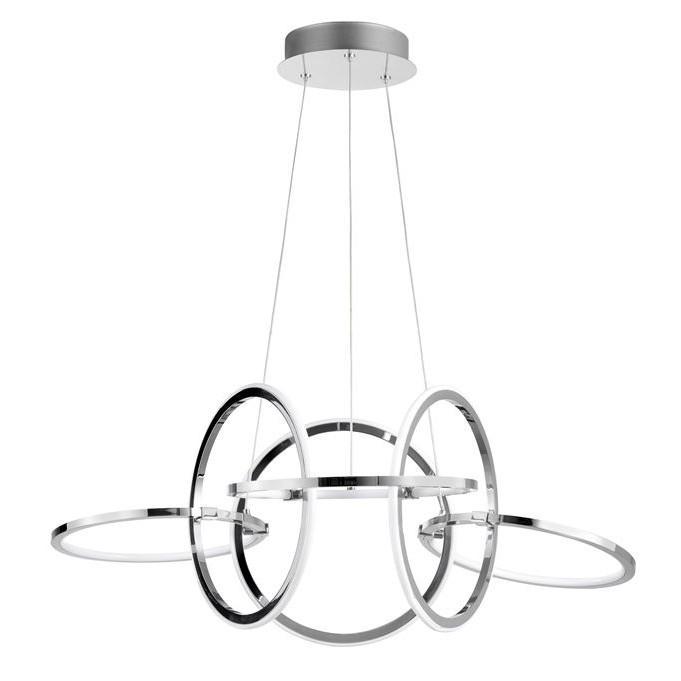 Lustra LED suspendata cu inele reglabile Dante, Lustre LED, Pendule LED, Corpuri de iluminat, lustre, aplice, veioze, lampadare, plafoniere. Mobilier si decoratiuni, oglinzi, scaune, fotolii. Oferte speciale iluminat interior si exterior. Livram in toata tara.  a