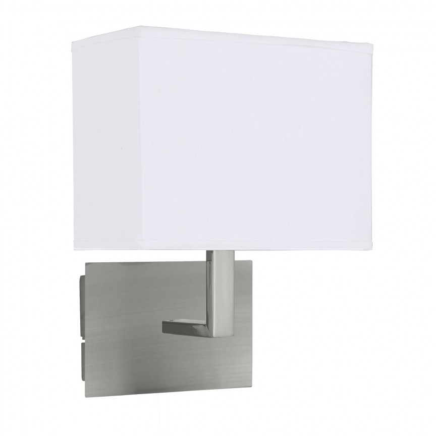 Aplica perete moderna Wall argintiu satin 5519SS SRT, Aplice de perete moderne, Corpuri de iluminat, lustre, aplice, veioze, lampadare, plafoniere. Mobilier si decoratiuni, oglinzi, scaune, fotolii. Oferte speciale iluminat interior si exterior. Livram in toata tara.  a