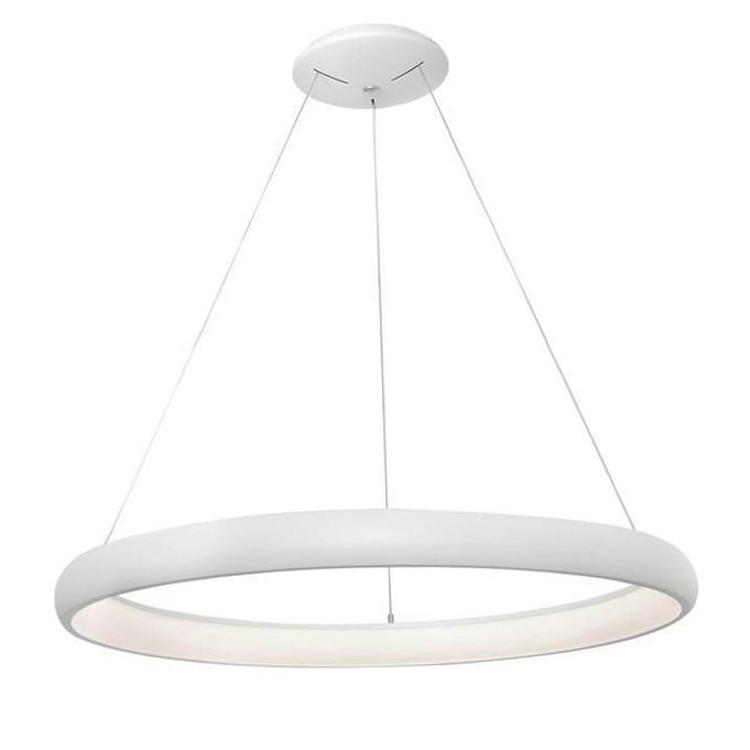Lustra LED dimabila, design modern Albi alb, 61cm, Lustre LED, Pendule LED, Corpuri de iluminat, lustre, aplice, veioze, lampadare, plafoniere. Mobilier si decoratiuni, oglinzi, scaune, fotolii. Oferte speciale iluminat interior si exterior. Livram in toata tara.  a