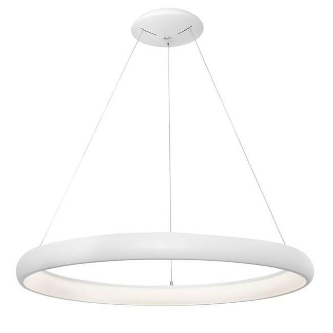 Lustra LED dimabila, design modern Albi alb, 81cm, Lustre LED, Pendule LED, Corpuri de iluminat, lustre, aplice, veioze, lampadare, plafoniere. Mobilier si decoratiuni, oglinzi, scaune, fotolii. Oferte speciale iluminat interior si exterior. Livram in toata tara.  a