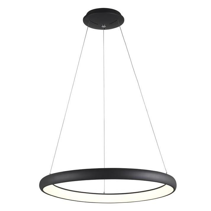 Lustra LED dimabila, design modern Albi negru, 61cm, Lustre LED, Pendule LED, Corpuri de iluminat, lustre, aplice, veioze, lampadare, plafoniere. Mobilier si decoratiuni, oglinzi, scaune, fotolii. Oferte speciale iluminat interior si exterior. Livram in toata tara.  a