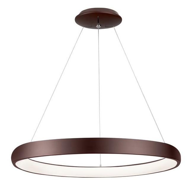 Lustra LED dimabila, design modern Albi maro, 61cm, Lustre LED, Pendule LED, Corpuri de iluminat, lustre, aplice, veioze, lampadare, plafoniere. Mobilier si decoratiuni, oglinzi, scaune, fotolii. Oferte speciale iluminat interior si exterior. Livram in toata tara.  a
