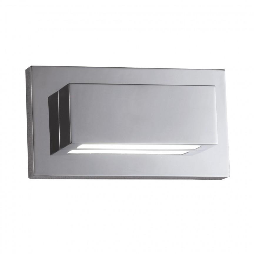 Aplica LED moderna design ambiental minimalist Wall crom 1752CC SRT, Aplice de perete LED, moderne⭐ modele potrivite pentru dormitor,living,baie,hol,bucatarie.✅Design premium actual Top 2020!❤️Promotii lampi❗ ➽ www.evalight.ro. Alege oferte la corpuri de iluminat cu LED pt tavan interior, (becuri cu leduri si module LED integrate cu lumina calda, naturala sau rece), ieftine si de lux, calitate deosebita la cel mai bun pret.  a