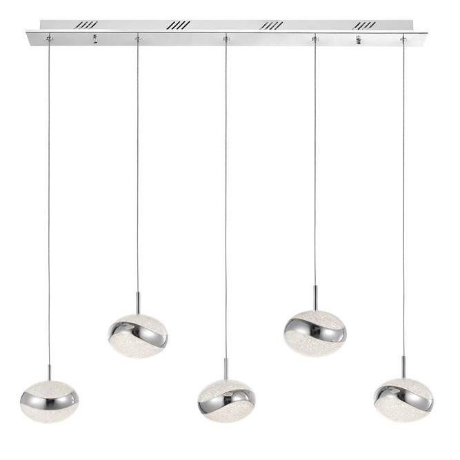 Lustra cu 5 pendule LED design modern Delano, Lustre LED, Pendule LED, Corpuri de iluminat, lustre, aplice, veioze, lampadare, plafoniere. Mobilier si decoratiuni, oglinzi, scaune, fotolii. Oferte speciale iluminat interior si exterior. Livram in toata tara.  a
