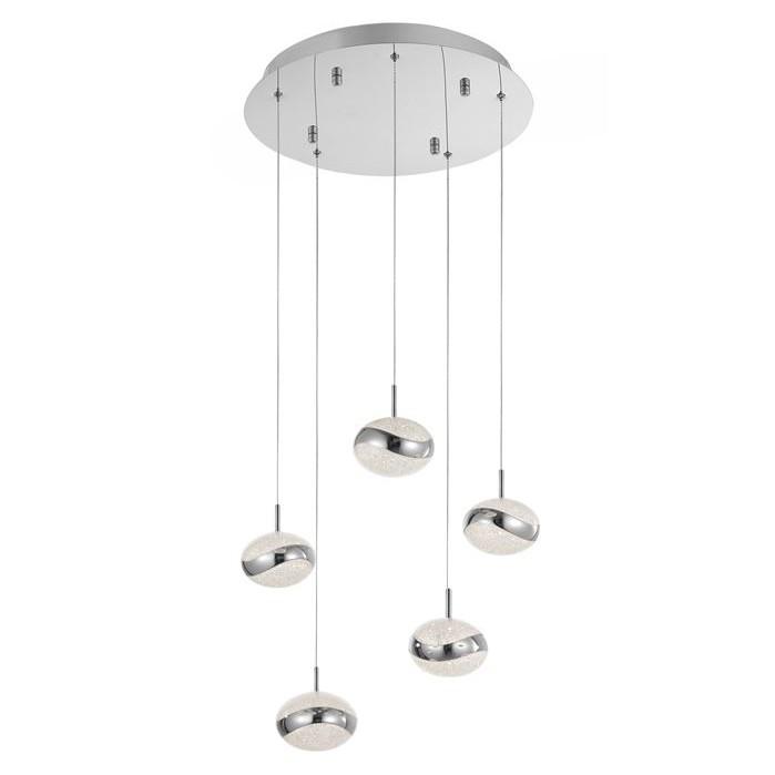 Lustra cu 5 pendule LED design modern Delano, ILUMINAT INTERIOR LED , Corpuri de iluminat, lustre, aplice, veioze, lampadare, plafoniere. Mobilier si decoratiuni, oglinzi, scaune, fotolii. Oferte speciale iluminat interior si exterior. Livram in toata tara.  a
