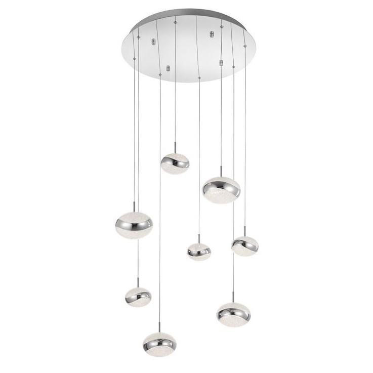 Lustra cu 8 pendule LED design modern Delano, ILUMINAT INTERIOR LED , Corpuri de iluminat, lustre, aplice, veioze, lampadare, plafoniere. Mobilier si decoratiuni, oglinzi, scaune, fotolii. Oferte speciale iluminat interior si exterior. Livram in toata tara.  a