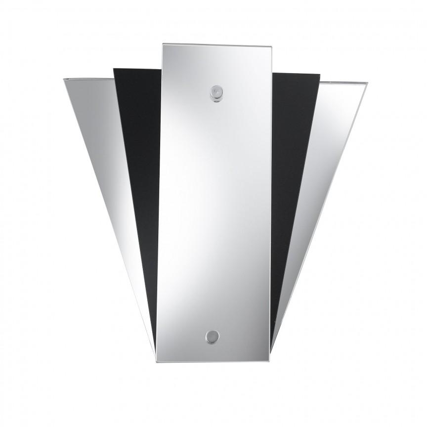 Aplica perete moderna design decorativ Wall 6201BK SRT, Aplice de perete moderne, Corpuri de iluminat, lustre, aplice, veioze, lampadare, plafoniere. Mobilier si decoratiuni, oglinzi, scaune, fotolii. Oferte speciale iluminat interior si exterior. Livram in toata tara.  a
