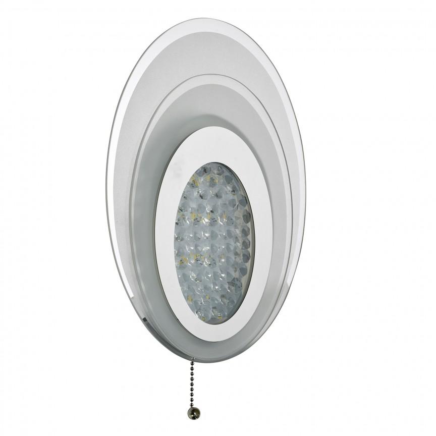 Aplica LED elegantaa design oval Wall 6482CC SRT, ILUMINAT INTERIOR LED , Corpuri de iluminat, lustre, aplice, veioze, lampadare, plafoniere. Mobilier si decoratiuni, oglinzi, scaune, fotolii. Oferte speciale iluminat interior si exterior. Livram in toata tara.  a