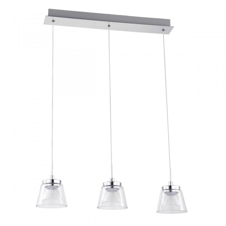 Lustra LED cu 3 pendule design modern Stuttgart 110011103 MW, Lustre LED, Pendule LED, Corpuri de iluminat, lustre, aplice, veioze, lampadare, plafoniere. Mobilier si decoratiuni, oglinzi, scaune, fotolii. Oferte speciale iluminat interior si exterior. Livram in toata tara.  a