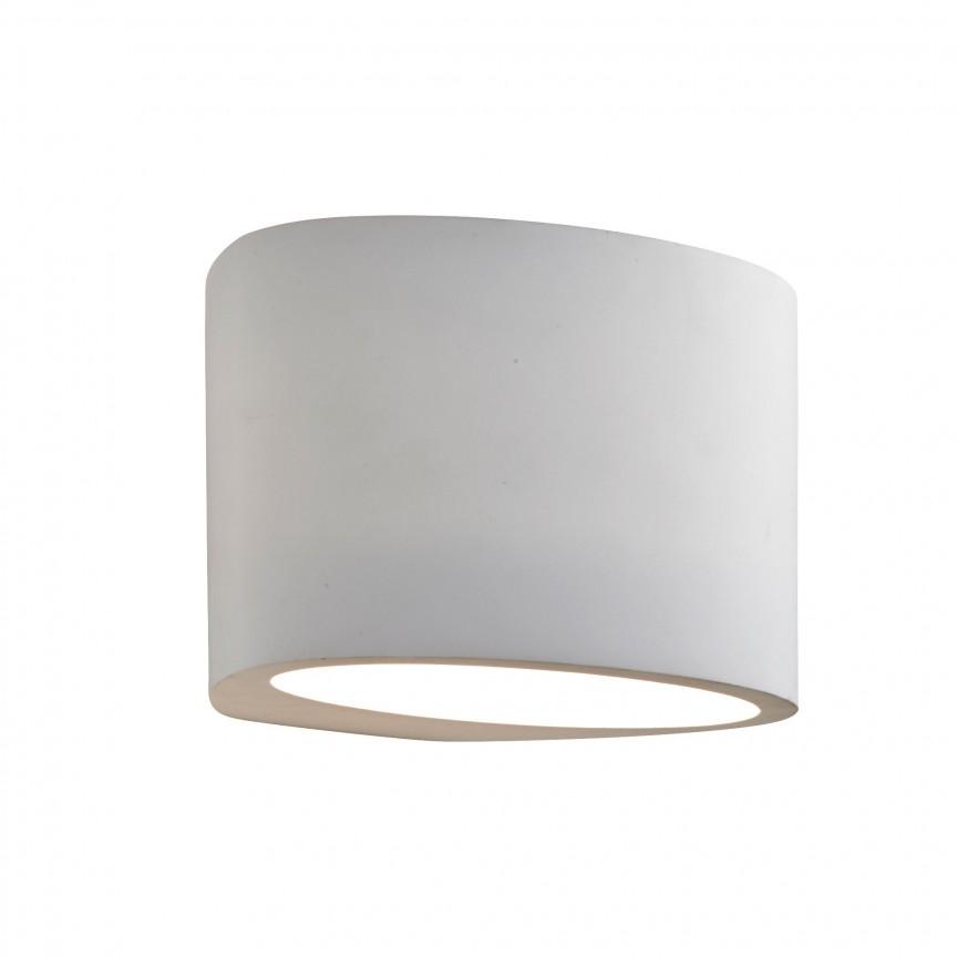 Aplica perete ovala iluminat ambiental Gypsum 8721 SRT, Aplice de perete moderne, Corpuri de iluminat, lustre, aplice, veioze, lampadare, plafoniere. Mobilier si decoratiuni, oglinzi, scaune, fotolii. Oferte speciale iluminat interior si exterior. Livram in toata tara.  a