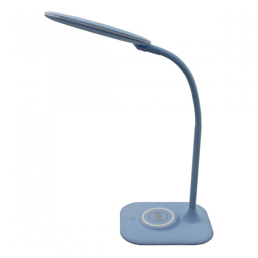 Lampa de birou LED design modern Stuttgart albastru 631036801MW   , Magazin, Corpuri de iluminat, lustre, aplice, veioze, lampadare, plafoniere. Mobilier si decoratiuni, oglinzi, scaune, fotolii. Oferte speciale iluminat interior si exterior. Livram in toata tara.  a