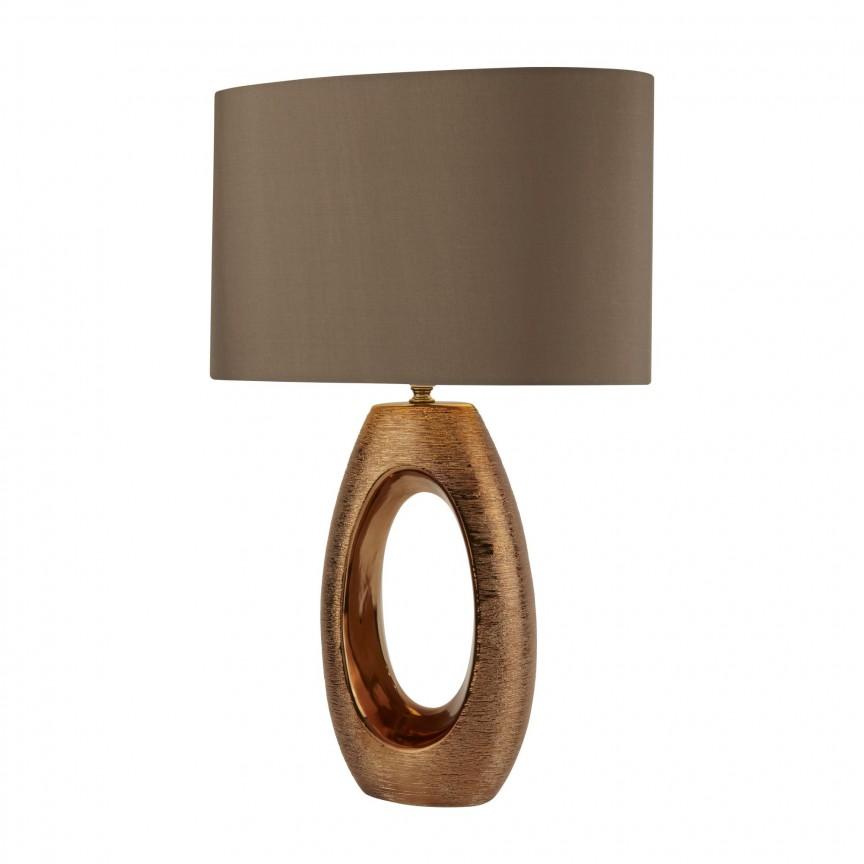 Veioza / Lampa de masa decorativa design elegant Artisan bronz EU1213BZ SRT, Magazin, Corpuri de iluminat, lustre, aplice, veioze, lampadare, plafoniere. Mobilier si decoratiuni, oglinzi, scaune, fotolii. Oferte speciale iluminat interior si exterior. Livram in toata tara.  a