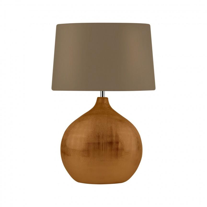 Veioza / Lampa de masa decorativa design elegant Artisan bronz EU4353BZ SRT, Magazin, Corpuri de iluminat, lustre, aplice, veioze, lampadare, plafoniere. Mobilier si decoratiuni, oglinzi, scaune, fotolii. Oferte speciale iluminat interior si exterior. Livram in toata tara.  a