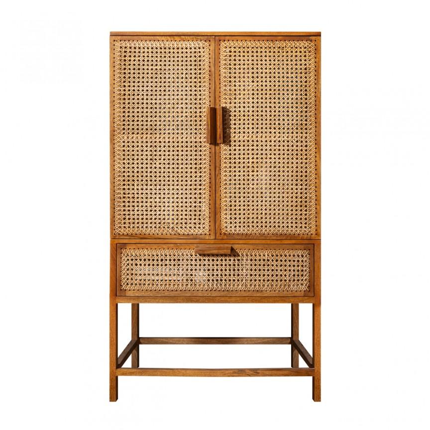 Dulap design oriental din lemn si bambus, Bamboo Lounge 140cm A-39821 VC, Magazin, Corpuri de iluminat, lustre, aplice, veioze, lampadare, plafoniere. Mobilier si decoratiuni, oglinzi, scaune, fotolii. Oferte speciale iluminat interior si exterior. Livram in toata tara.  a
