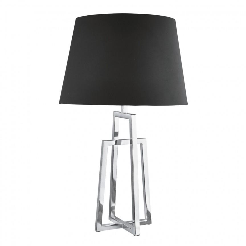 Veioza / Lampa de masa decorativa design modern York EU1533CC-1 SRT, Veioze, Lampi de masa, Corpuri de iluminat, lustre, aplice, veioze, lampadare, plafoniere. Mobilier si decoratiuni, oglinzi, scaune, fotolii. Oferte speciale iluminat interior si exterior. Livram in toata tara.  a