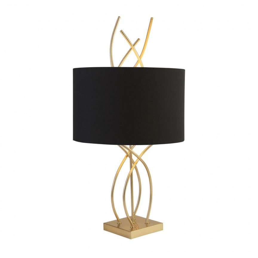 Veioza / Lampa de masa decorativa design elegant Flame EU2314AB SRT, Veioze, Lampi de masa, Corpuri de iluminat, lustre, aplice, veioze, lampadare, plafoniere. Mobilier si decoratiuni, oglinzi, scaune, fotolii. Oferte speciale iluminat interior si exterior. Livram in toata tara.  a