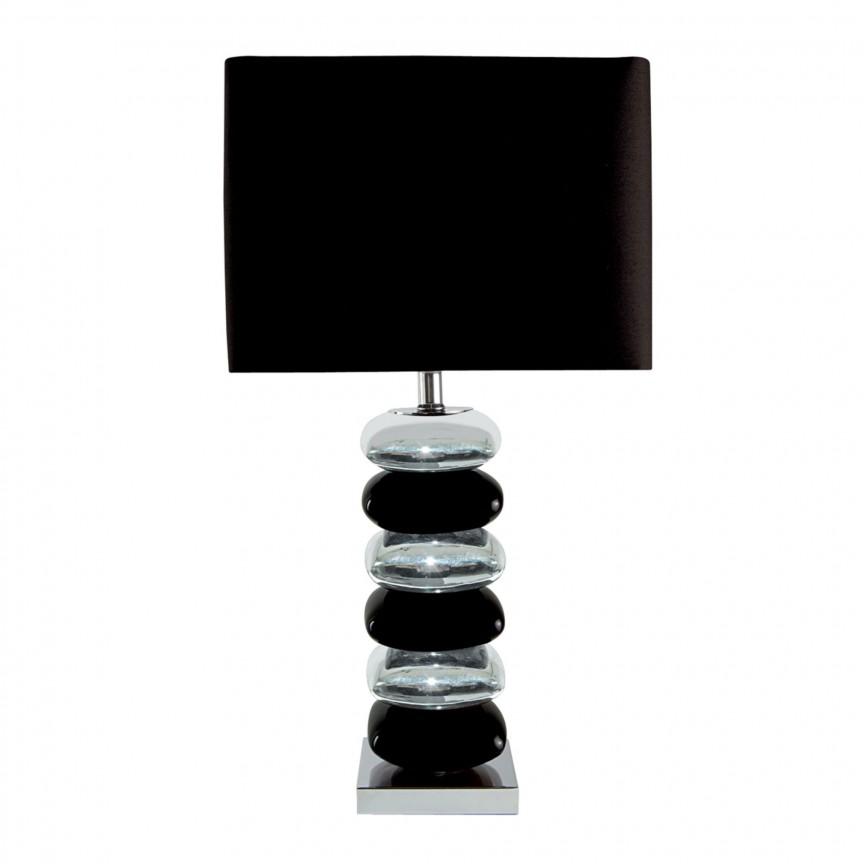 Veioza / Lampa de masa decorativa design elegant BRAVO EU4318CC-1 SRT, Veioze, Lampi de masa, Corpuri de iluminat, lustre, aplice, veioze, lampadare, plafoniere. Mobilier si decoratiuni, oglinzi, scaune, fotolii. Oferte speciale iluminat interior si exterior. Livram in toata tara.  a