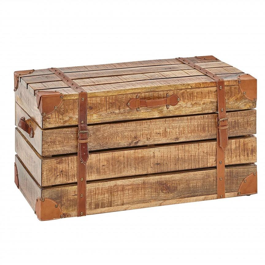 Cufar din lemn Factory Loft 82cm, mango natur A-39665 VC, Mobilier divers, Corpuri de iluminat, lustre, aplice, veioze, lampadare, plafoniere. Mobilier si decoratiuni, oglinzi, scaune, fotolii. Oferte speciale iluminat interior si exterior. Livram in toata tara.  a