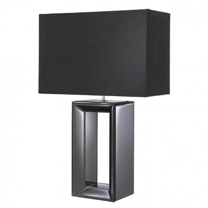 Veioza / Lampa de masa decorativa design elegant Mirror EU1610BK SRT, Veioze, Lampi de masa, Corpuri de iluminat, lustre, aplice, veioze, lampadare, plafoniere. Mobilier si decoratiuni, oglinzi, scaune, fotolii. Oferte speciale iluminat interior si exterior. Livram in toata tara.  a