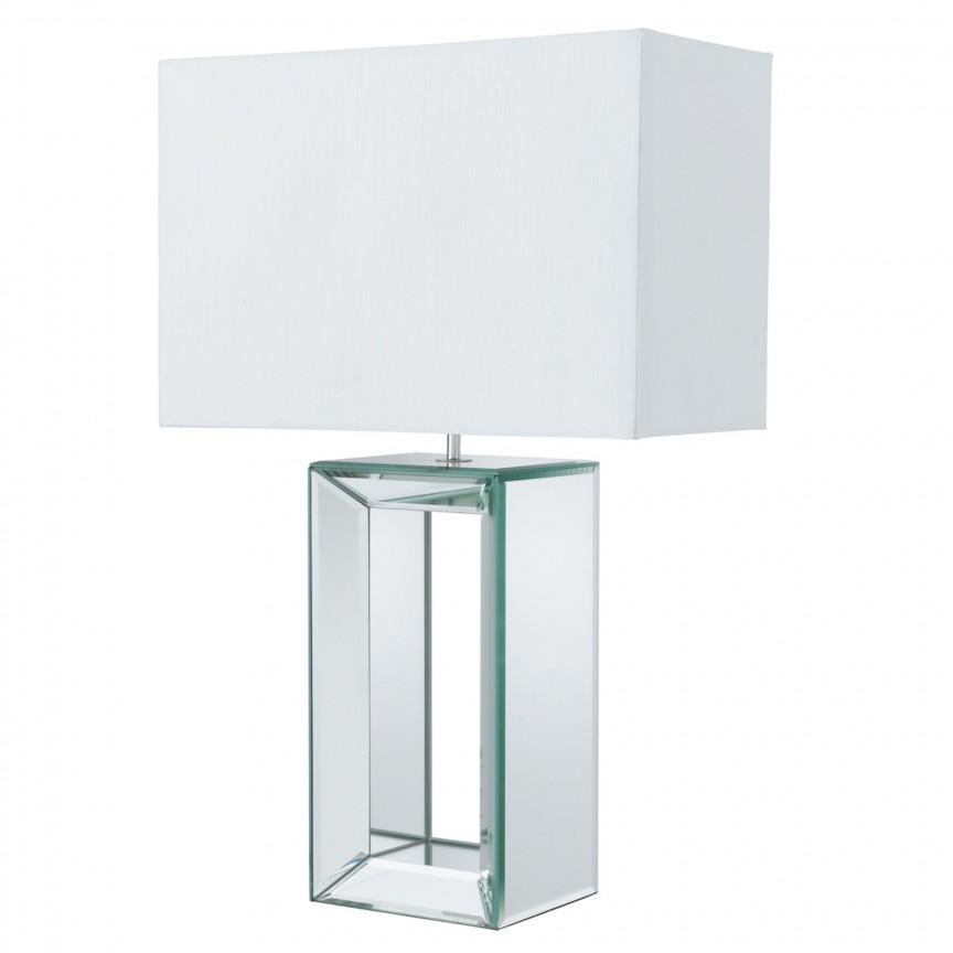 Veioza / Lampa de masa decorativa design elegant Mirror EU1610 SRT, Veioze, Lampi de masa, Corpuri de iluminat, lustre, aplice, veioze, lampadare, plafoniere. Mobilier si decoratiuni, oglinzi, scaune, fotolii. Oferte speciale iluminat interior si exterior. Livram in toata tara.  a