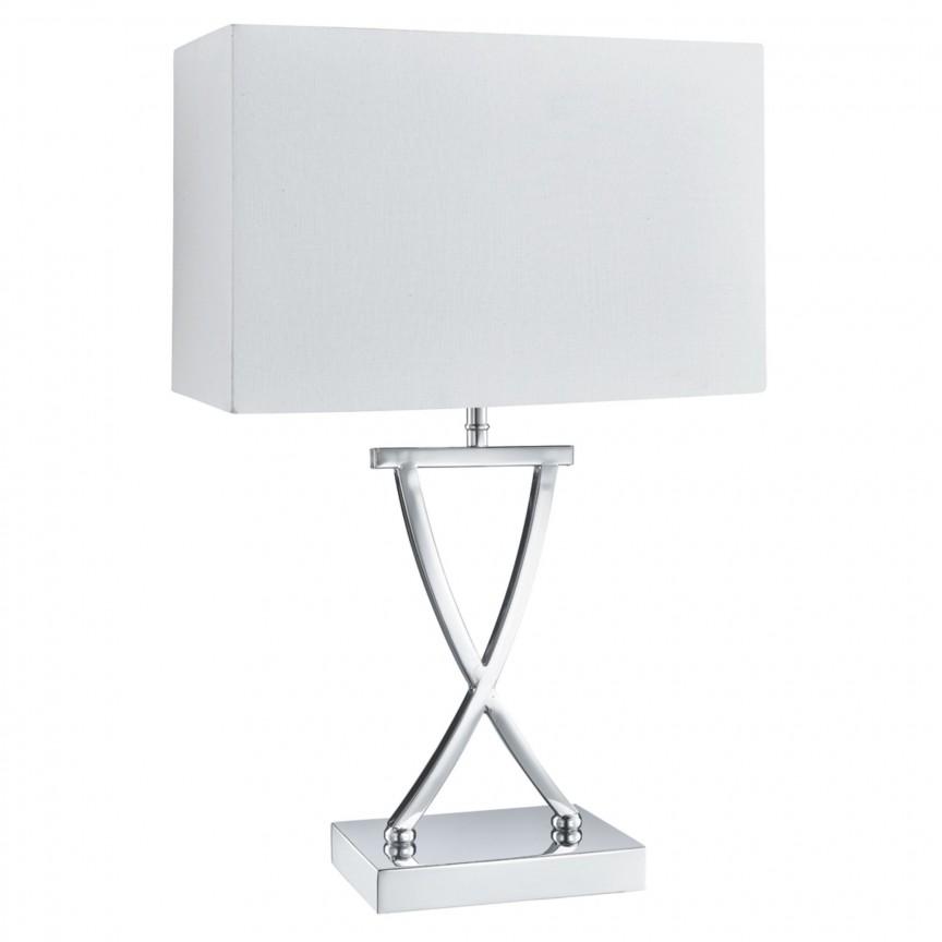 Veioza / Lampa de masa decorativa design modern CLUB EU7923CC SRT, Veioze, Lampi de masa, Corpuri de iluminat, lustre, aplice, veioze, lampadare, plafoniere. Mobilier si decoratiuni, oglinzi, scaune, fotolii. Oferte speciale iluminat interior si exterior. Livram in toata tara.  a