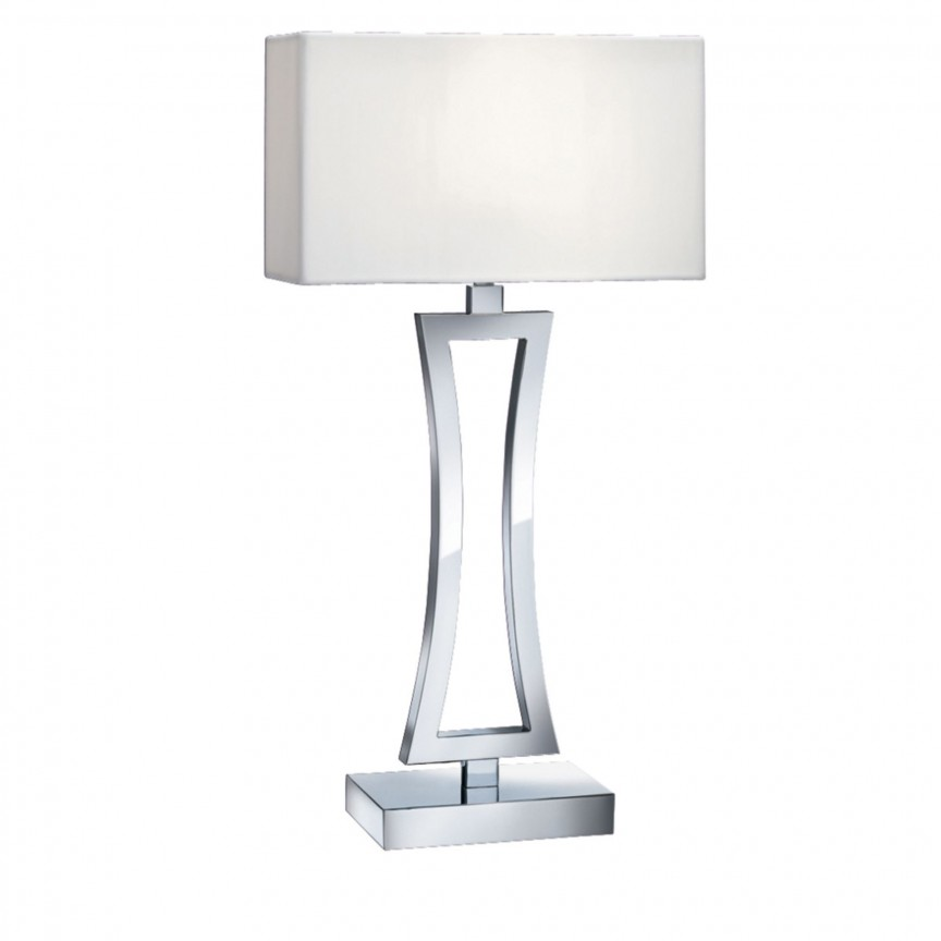 Veioza / Lampa de masa decorativa design modern Cusion EU4081CC-1 SRT, Veioze, Lampi de masa, Corpuri de iluminat, lustre, aplice, veioze, lampadare, plafoniere. Mobilier si decoratiuni, oglinzi, scaune, fotolii. Oferte speciale iluminat interior si exterior. Livram in toata tara.  a