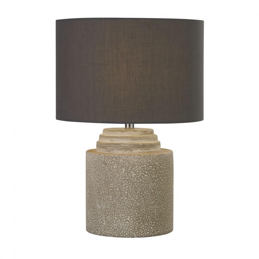 Veioza / Lampa de masa design decorativ Zara EU9260GY SRT, Veioze, Lampi de masa, Corpuri de iluminat, lustre, aplice, veioze, lampadare, plafoniere. Mobilier si decoratiuni, oglinzi, scaune, fotolii. Oferte speciale iluminat interior si exterior. Livram in toata tara.  a