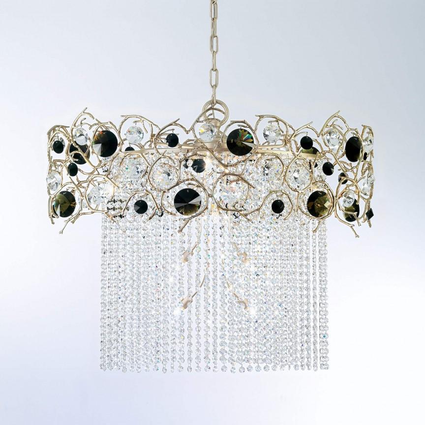 Lustra design LUX realizata manual, stil organic Diamond, 80x44cm, Candelabre, Pendule clasice, Corpuri de iluminat, lustre, aplice, veioze, lampadare, plafoniere. Mobilier si decoratiuni, oglinzi, scaune, fotolii. Oferte speciale iluminat interior si exterior. Livram in toata tara.  a