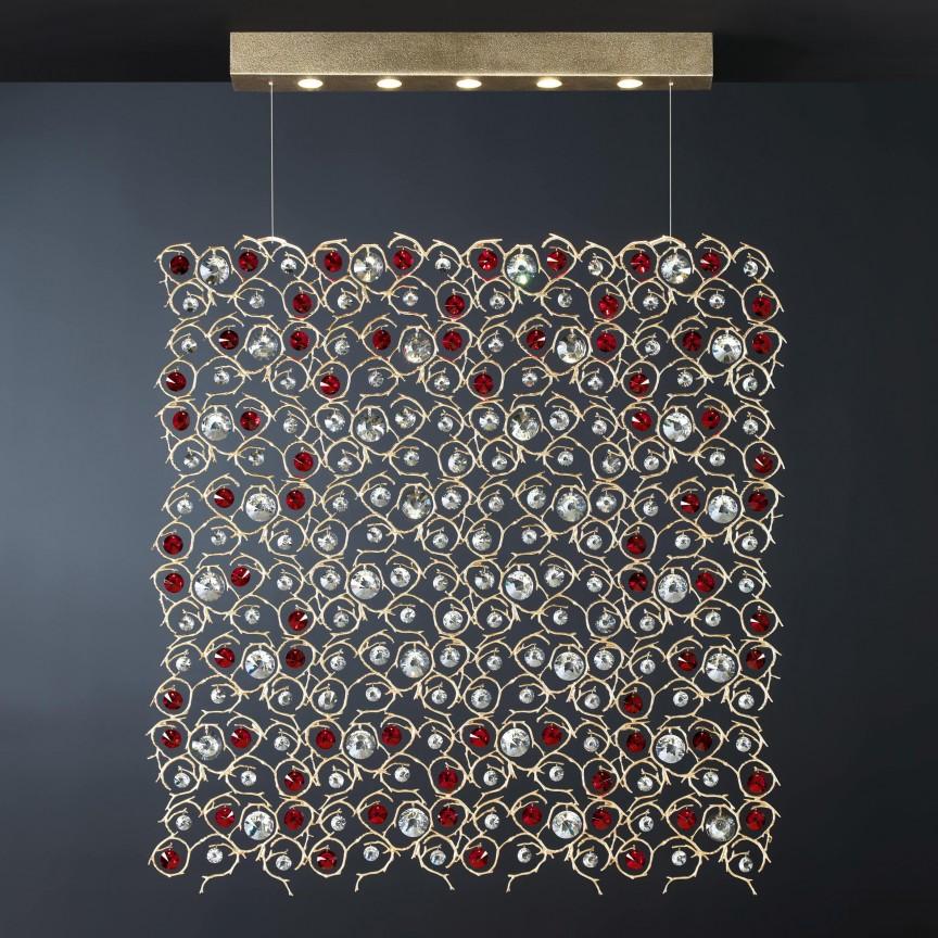 Lustra design LUX realizata manual, stil organic Diamond, 135cm, Candelabre, Lustre moderne, Corpuri de iluminat, lustre, aplice, veioze, lampadare, plafoniere. Mobilier si decoratiuni, oglinzi, scaune, fotolii. Oferte speciale iluminat interior si exterior. Livram in toata tara.  a