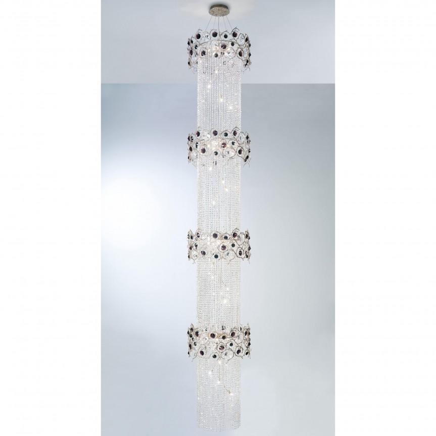 Lustra XXL design LUX realizata manual, stil organic Diamond, Candelabre, Pendule clasice, Corpuri de iluminat, lustre, aplice, veioze, lampadare, plafoniere. Mobilier si decoratiuni, oglinzi, scaune, fotolii. Oferte speciale iluminat interior si exterior. Livram in toata tara.  a