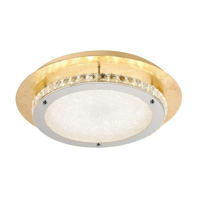Plafoniera, Lustra LED aplicata design modern Zeffari, auriu, ILUMINAT INTERIOR LED , Corpuri de iluminat, lustre, aplice, veioze, lampadare, plafoniere. Mobilier si decoratiuni, oglinzi, scaune, fotolii. Oferte speciale iluminat interior si exterior. Livram in toata tara.  a