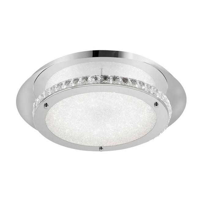 Plafoniera, Lustra LED aplicata design modern Zeffari, crom, ILUMINAT INTERIOR LED , Corpuri de iluminat, lustre, aplice, veioze, lampadare, plafoniere. Mobilier si decoratiuni, oglinzi, scaune, fotolii. Oferte speciale iluminat interior si exterior. Livram in toata tara.  a