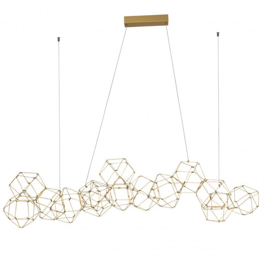 Lustra LED deosebita design modern NEBULA, 137cm, ILUMINAT INTERIOR LED , Corpuri de iluminat, lustre, aplice, veioze, lampadare, plafoniere. Mobilier si decoratiuni, oglinzi, scaune, fotolii. Oferte speciale iluminat interior si exterior. Livram in toata tara.  a