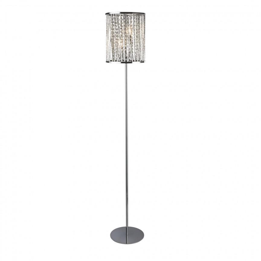Lampadar / Lampa de podea moderna design elegant Elise EU8932CC SRT, CORPURI DE ILUMINAT INTERIOR MODERN, Corpuri de iluminat, lustre, aplice, veioze, lampadare, plafoniere. Mobilier si decoratiuni, oglinzi, scaune, fotolii. Oferte speciale iluminat interior si exterior. Livram in toata tara.  a