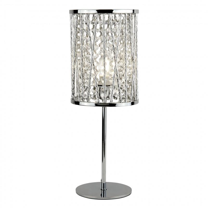 Veioza / Lampa de masa moderna design elegant Elise EU8931CC SRT, CORPURI DE ILUMINAT INTERIOR MODERN, Corpuri de iluminat, lustre, aplice, veioze, lampadare, plafoniere. Mobilier si decoratiuni, oglinzi, scaune, fotolii. Oferte speciale iluminat interior si exterior. Livram in toata tara.  a