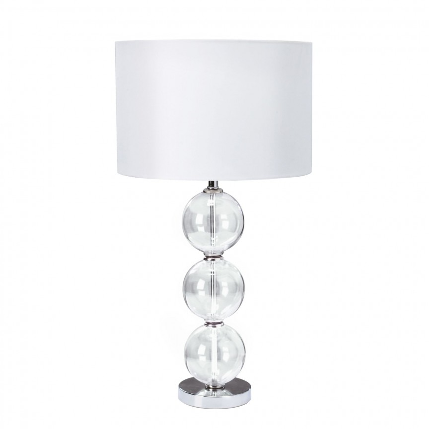 Veioza / Lampa de masa moderna Table Lamp EU6194CC-1 SRT, CORPURI DE ILUMINAT INTERIOR MODERN, Corpuri de iluminat, lustre, aplice, veioze, lampadare, plafoniere. Mobilier si decoratiuni, oglinzi, scaune, fotolii. Oferte speciale iluminat interior si exterior. Livram in toata tara.  a