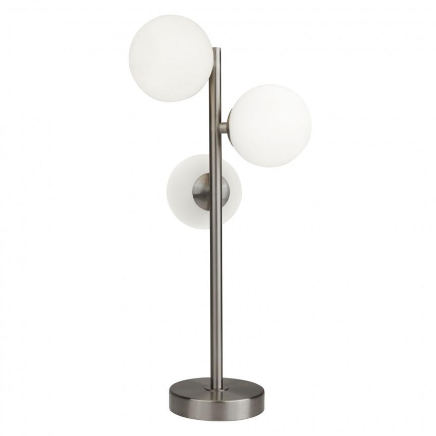 Veioza / Lampa de masa design modern Trio EU0813-3SS SRT, Cele mai noi produse 2020 a
