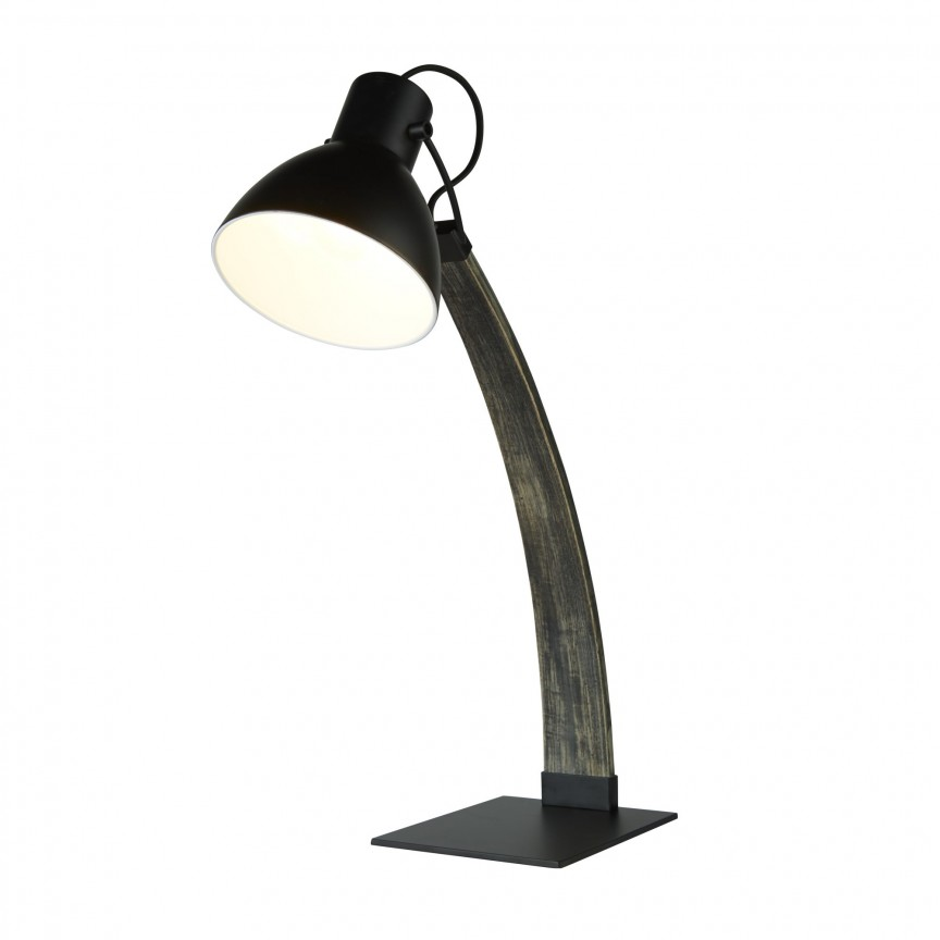 Veioza / Lampa de masa tip arc design lemn natural Nanna EU1039BK SRT, Cele mai noi produse 2020 a