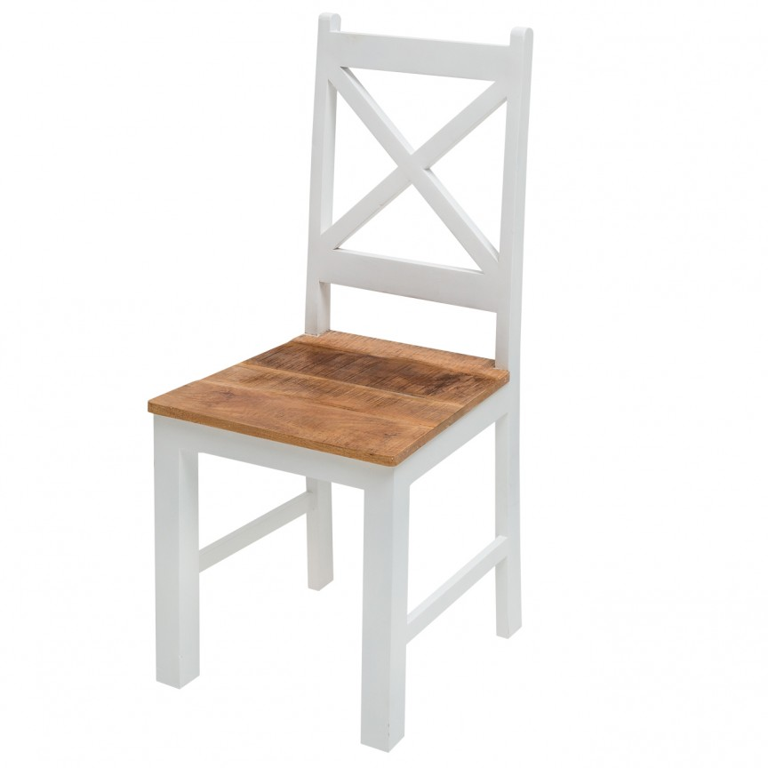 Set de 2 scaune din lemn de mango Long Island A-39779 VC, Cele mai noi produse 2020 a