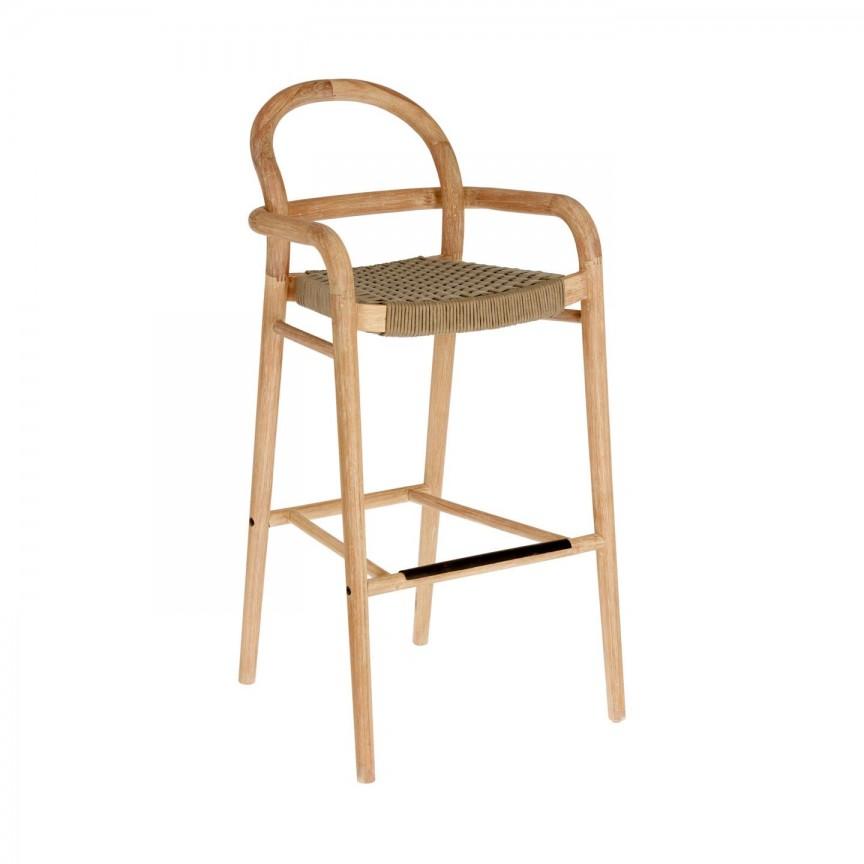 Scaun bar din lemn Sheryl H-79cm, bej CC5079J12 JG, Scaune de bar, Corpuri de iluminat, lustre, aplice, veioze, lampadare, plafoniere. Mobilier si decoratiuni, oglinzi, scaune, fotolii. Oferte speciale iluminat interior si exterior. Livram in toata tara.  a