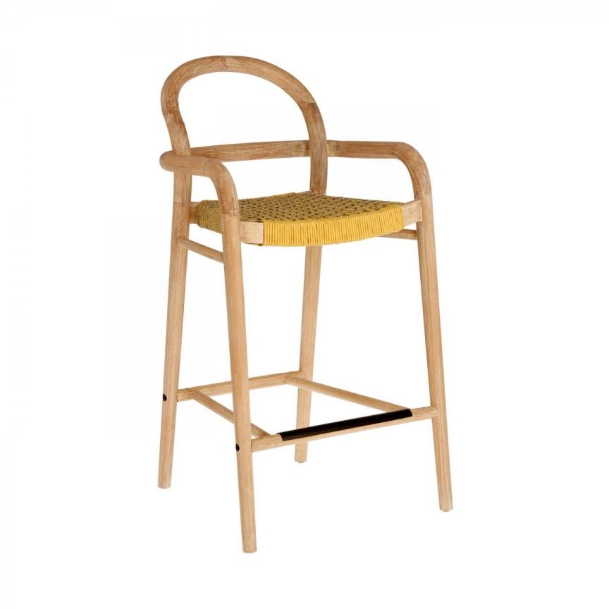 Scaun bar din lemn Sheryl H-69cm, galben mustar CC5080J81 JG, Scaune de bar, Corpuri de iluminat, lustre, aplice, veioze, lampadare, plafoniere. Mobilier si decoratiuni, oglinzi, scaune, fotolii. Oferte speciale iluminat interior si exterior. Livram in toata tara.  a