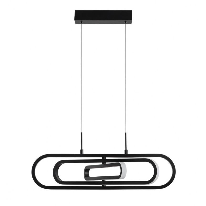 Lustra LED dimabila, design modern ARTE, negru, Cele mai vandute Corpuri de iluminat, lustre, aplice, veioze, lampadare, plafoniere. Mobilier si decoratiuni, oglinzi, scaune, fotolii. Oferte speciale iluminat interior si exterior. Livram in toata tara.  a