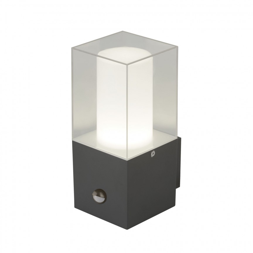 Aplica de perete exterior cu senzor de miscare Outdoor 2581GY SRT, Iluminat cu senzor de miscare,  a