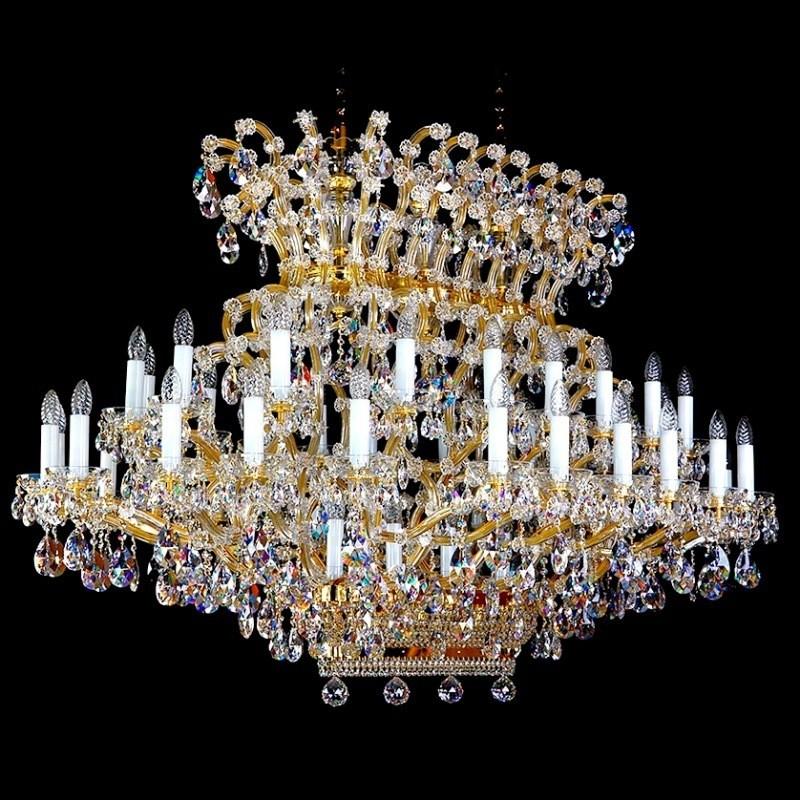 Candelabru XXXL design LUX Cristal Exclusiv MARIA TEREZIA CE, Lustre Imperial Cristal Bohemia,  a