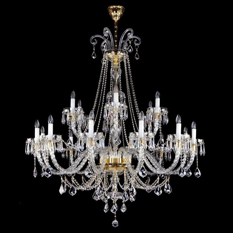 Candelabru 18 brate design LUX Cristal Exclusiv MIRELA XVIII., LUSTRE CRISTAL, Corpuri de iluminat, lustre, aplice, veioze, lampadare, plafoniere. Mobilier si decoratiuni, oglinzi, scaune, fotolii. Oferte speciale iluminat interior si exterior. Livram in toata tara.  a