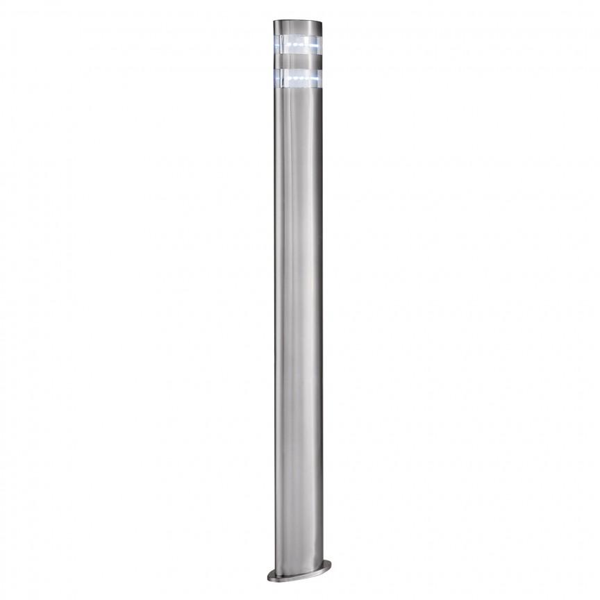 Stalp LED modern iluminat exterior IP44 India H-90cm 5304-900 SRT, Stalpi de iluminat exterior mici si medii , Corpuri de iluminat, lustre, aplice, veioze, lampadare, plafoniere. Mobilier si decoratiuni, oglinzi, scaune, fotolii. Oferte speciale iluminat interior si exterior. Livram in toata tara.  a