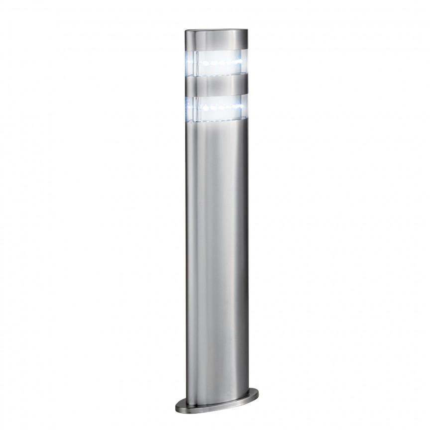 Stalp LED modern de exterior IP44 India H-45cm 5304-450 SRT, Stalpi de iluminat exterior mici si medii , Corpuri de iluminat, lustre, aplice, veioze, lampadare, plafoniere. Mobilier si decoratiuni, oglinzi, scaune, fotolii. Oferte speciale iluminat interior si exterior. Livram in toata tara.  a